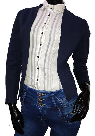 Blaizer Dama Mujer Saco Formal Corto