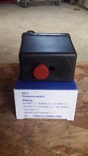 Presostato Para Compresor Monofasico 80-115 Psi 4 Via Jps7.