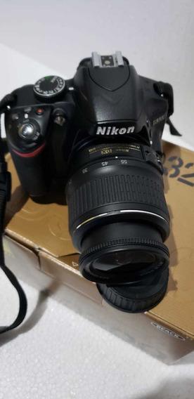 Câmera Fotográfica Profissional Nikon D3200 + Lente 18,,55
