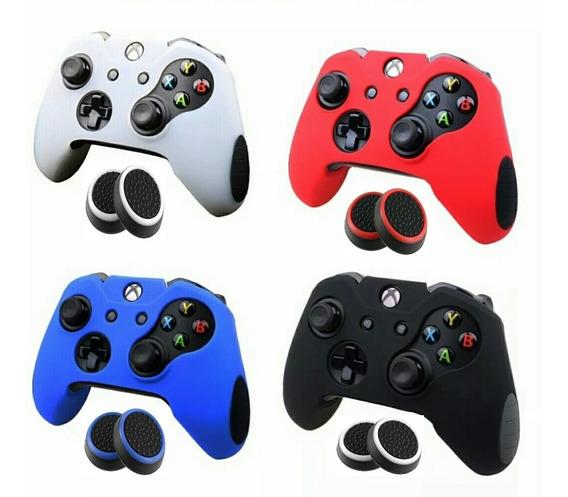2 Capas Controle Xbox One Alta Qualidade + 2 Pares Grips