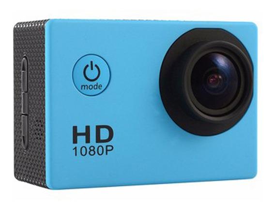 Câmera De Ação Impermeável Azul
