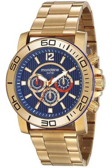 Relógio Masculino Mondaine 99264gpmvds2 Dourado