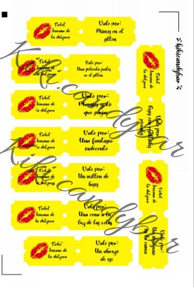 Ticket Imprimible Semana De La Dulzura/dia De Los Enamorados