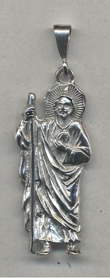 San Judas Tadeo De Plata .925..
