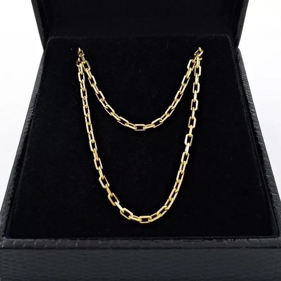 Corrente Masculina Ouro 18k - Cordão Modelo Cartier 60cm