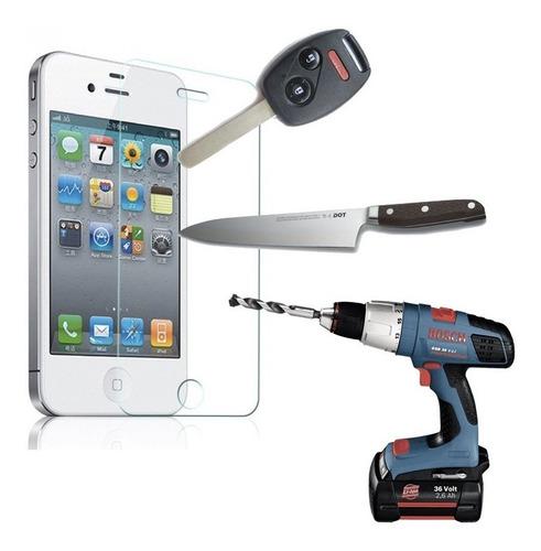 Protector Vidrio Templado iPhone 4 Y 4s  Antigolpes Glass