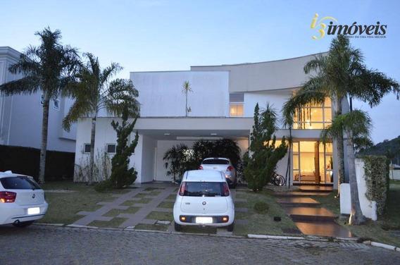 Casa Em Condomínio Fechado Praia Brava, 4 Dormitórios, 3 Suítes, Dependência De Empregada, Itajaí Sc - Ca0293