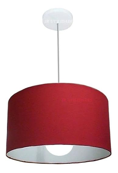 Luminária De Teto Pendente Cúpula De 30 X 20 Cm