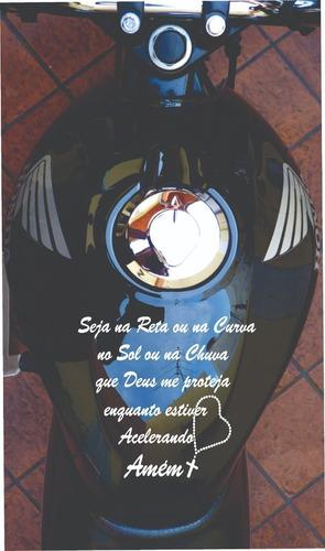 Adesivo Tanque De Moto - Frase Para Moto
