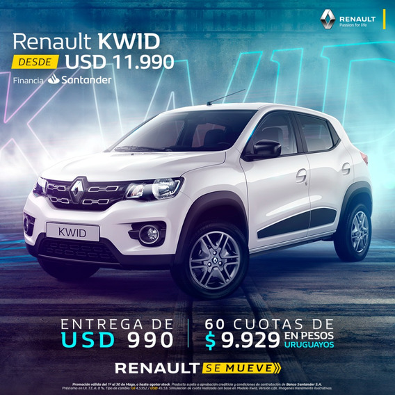 Renault Kwid Outsider(1era Cuota A Los 3 Meses)