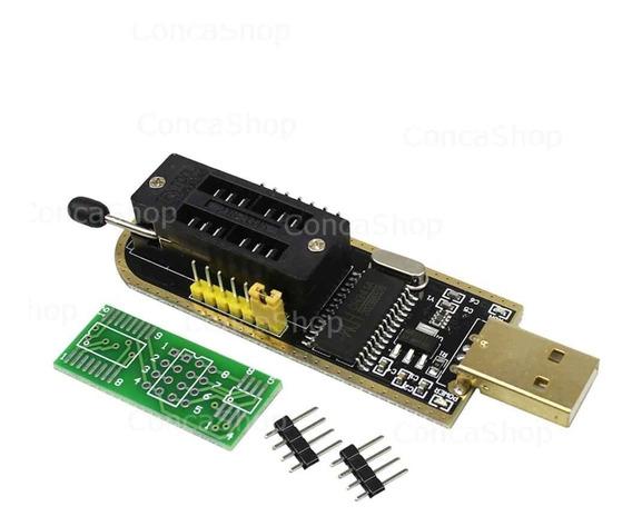 Programador Usb Ch341 Eeprom 24/25 Con Zocalo Zif Bios
