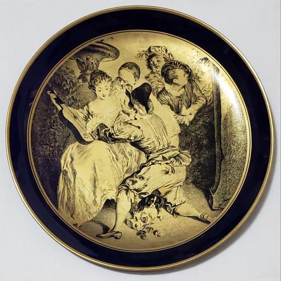 Importante Plato Decorativo Colección Porcelana Tsuji 24cm.