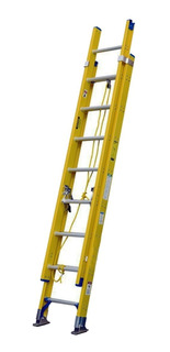 Escalera Telescópica De Fibra De Vidrio 24 Pasos // Mcr