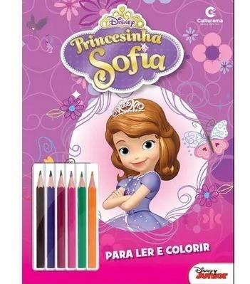 Ler E Colorir Princesinha Sofia