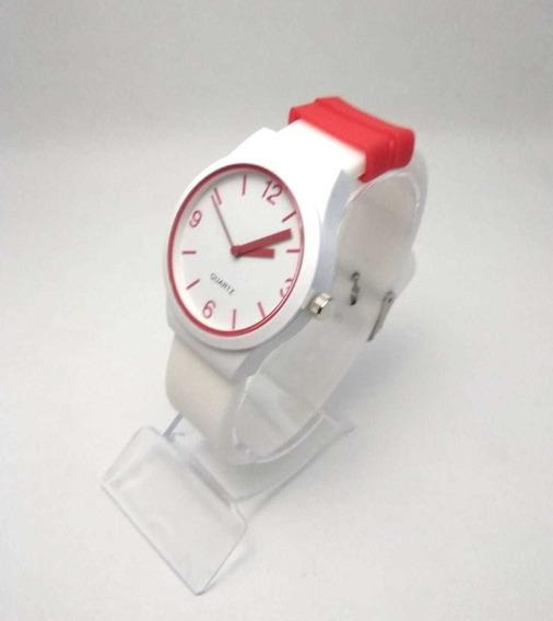 Kit 10 Relógios Várias Cores +10 Caixa Acrilicas 10 Baterias