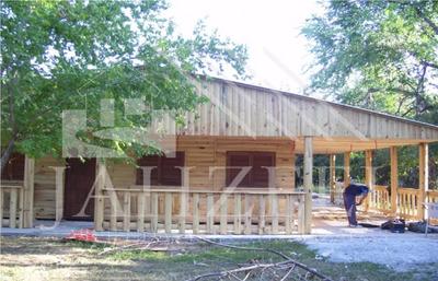 Cabañas Medio Tronco Prefabricadas Industrializadas Construy