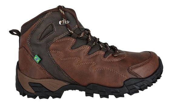 Bota Masculina Adventure Coturno Sapato Wonder 1044 Marrom