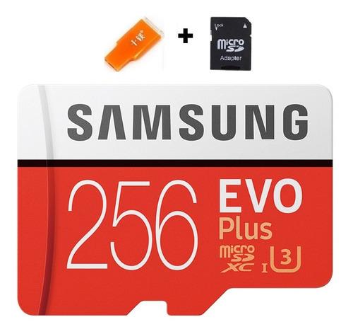 Cartao De Memoria Samsung Evo Plus 256gb Lacrado S7,s8,s9 +8
