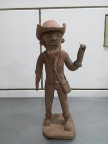 Escultura De Barro Antiga