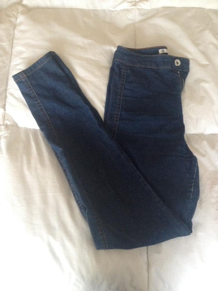 Jeans Tipo Jeggins Skinny Y Tiro Alto Pull&bear Talle 24/34