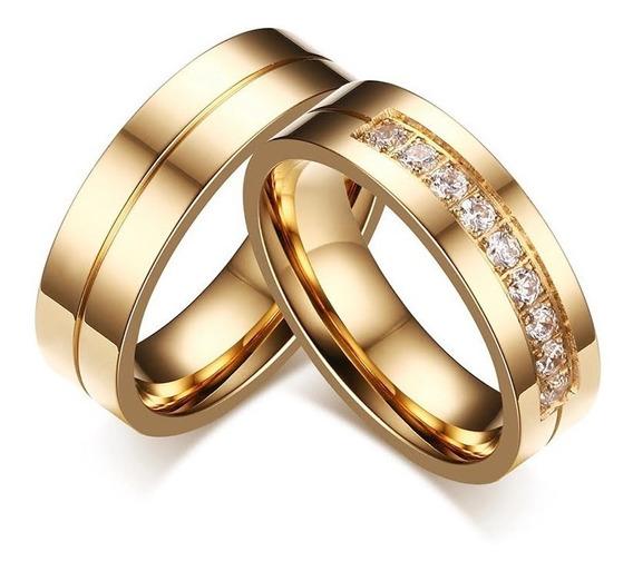 Alianças Banhada Ouro 18k Casamento Tradicional Noivado Anel