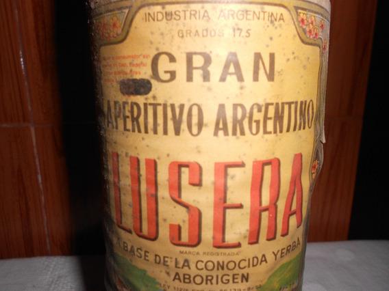 Muy Antigua Botella Llena Aperitivo Lusera