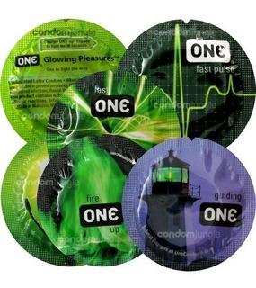12 Preservativos Brillantes One Glowing