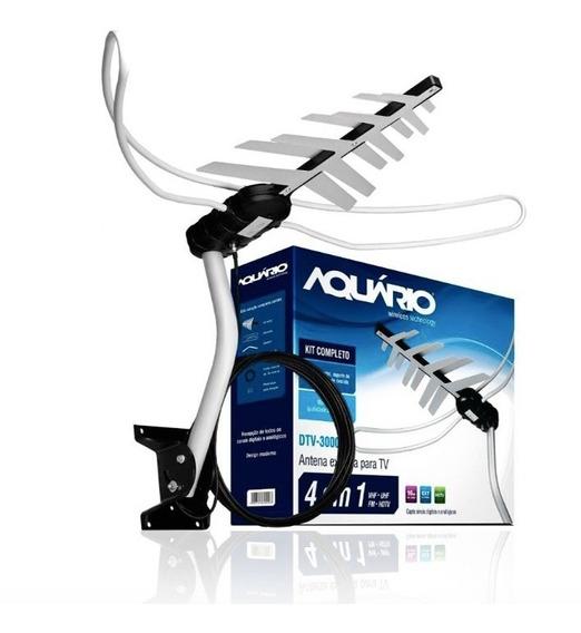 Antena Externa Para Tv Dtv-3000 Aquário Digital
