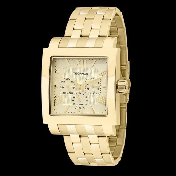 Relógio Technos Dourado Quadrado 6p29yo/4x