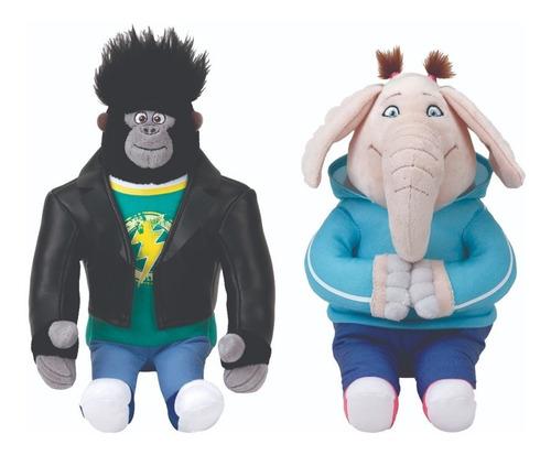 Kit Pelucia Elefante E Macaco-dtc  Personagem Sing