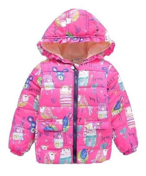 Jaqueta Criança Menina Infantil Casaco Corta Vento Capuz