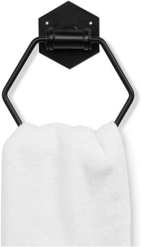 Imagen 1 de 6 de Mygift - Toallero De Pared Para Baño, Diseño Hexagonal, Co