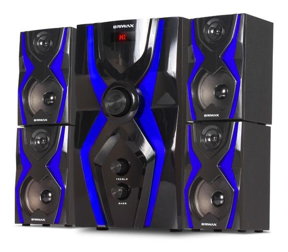 Home Theater 5.1 Caixa Som Acústica Subwoofer 70w Bluetooth