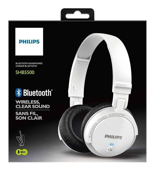 Fone De Ouvido Sem Fio Bluetooth Philips Shb5500 Cor Branco