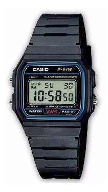 Relógio Casio F-91w-1dg Original Classico Na Caixa F91