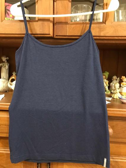 Musculosa De Mujer Marca Markova Talle M Color Azul