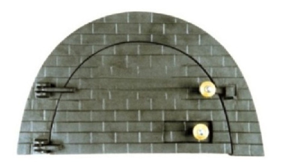 Porta Forno Ferro Fundido Para Pizza Boquinho 53x32cm