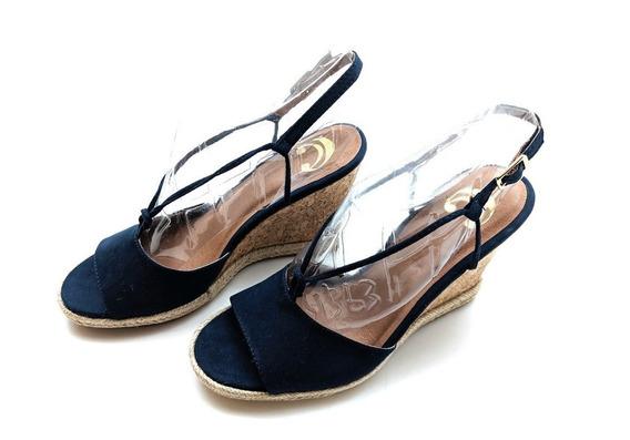 Sandalias Damas Nautical Chic Blue Dark - Talla 8
