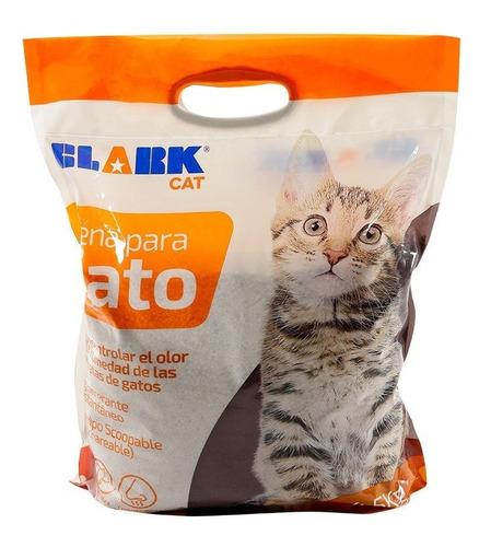 Imagen 1 de 2 de Arena Para Gato Clark 4.5kg