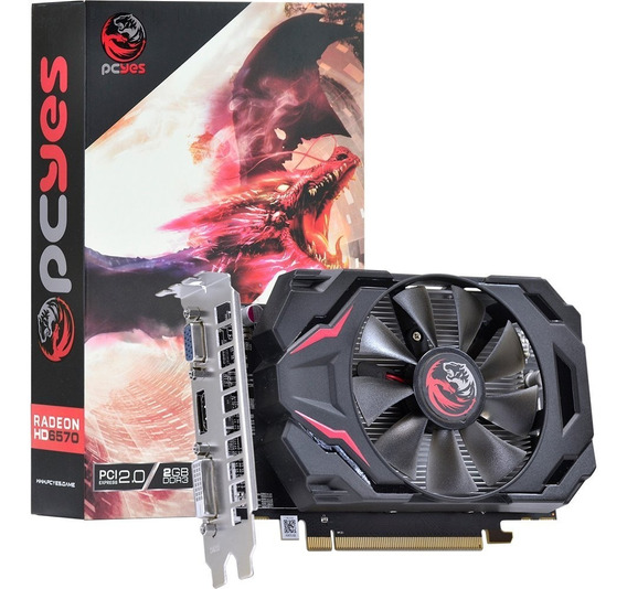 Placa De Vídeo Radeon 6570 2gb Pci-e Pcyes 128bits Ddr3