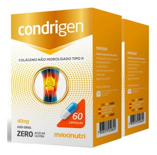 Colágeno Tipo 2 Não Hidrolisado Condrigen Maxinutri 2x60caps