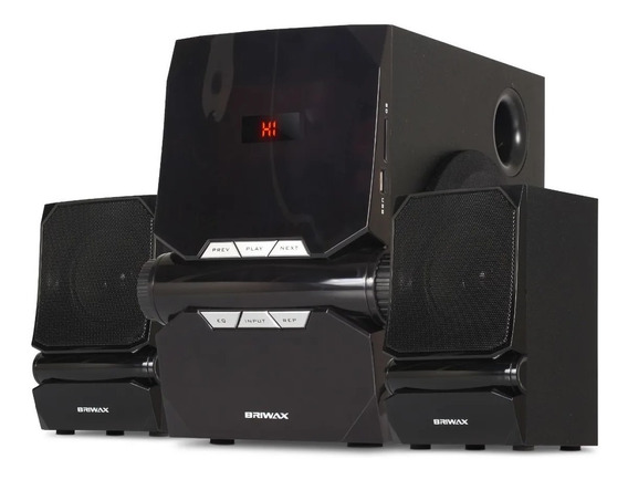 Home Theater 2.1 Sistema Som 50w Portátil Bluetooth Subwoofe