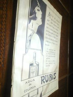 Agua Colonia Rubis Polvo - Antigua Publicidad Clipping 1930