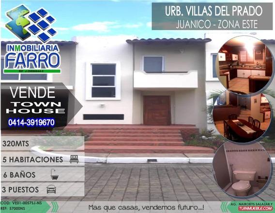 Venta De Town House En Juanico Ve01-0057sj-ns