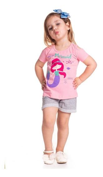Kit Lote 6 Conjuntos Roupa Infantil Feminina Atacado 1 A 14