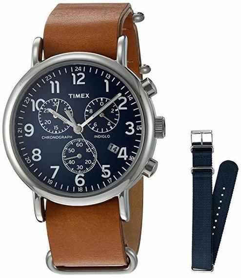 Timex Weekender Reloj Con Sujetador Hasta La Malla Y Cronógr