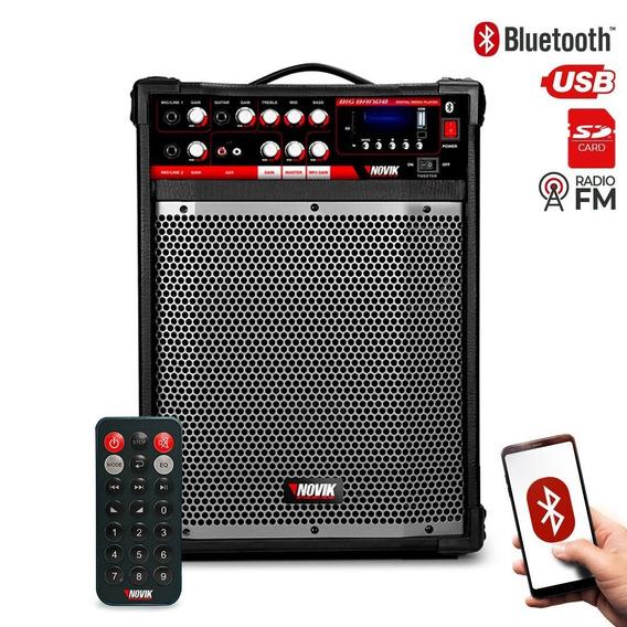 Caixa Multiuso Amplificada Novik Big Band 8bt Usb Bt Mp3