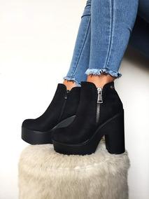 Botin Mujer,color Negro,full Moda Otoño-invierno 2019