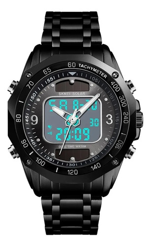 Reloj Skmei 1493 Deportivo Solar  Acero Inoxidable Digital