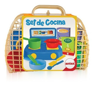 Canasta Con Juego De Cocina Infantil Antex